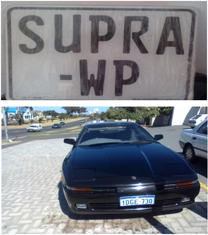 Supra registered by Cheryl Sandmann vehicle registration consultant